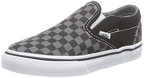 Vans Kids' Classic Slip-On Core-K, Check Black/Pewter, 7 M US Toddler]()