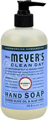 Mrs. Meyers Clean Day Liquid Hand Soap Hard 12.5 Oz Bluebell Scent Pump Dispenser (Pack of 6)