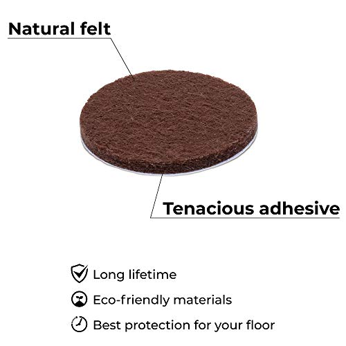 X-PROTECTOR Premium ULTRA LARGE Pack Felt Furniture Pads 181 piece! Felt Pads Furniture Feet ALL SIZES – Your Best Wood Floor Protectors. Protect Your Hardwood Flooring with 100% Satisfaction! by X-Protector (Image #4)