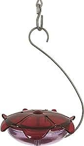 Droll Yankees RS-3HL Hanging Capacity Hummingbird Nectar Bird Feeder, 5 Oz, Ruby/Lavender