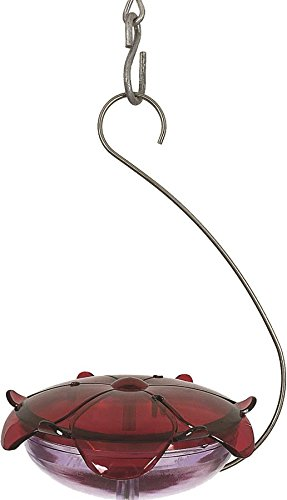 Droll Yankees RS-3HL Hanging Capacity Hummingbird Nectar Bird Feeder, 5 oz, Ruby/Lavender