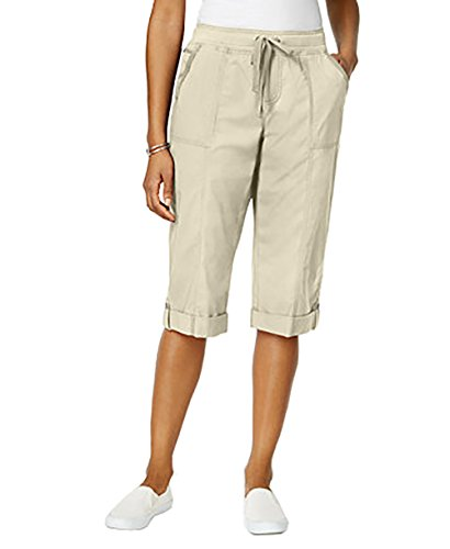 Style & Co. Womens Plus Twill Comfort Waist Skimmers Beige 18W from Style & Co.