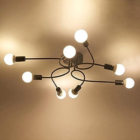 Amazon.com: XHJJDJ Deck Light - Lámpara de techo con 8 focos ...