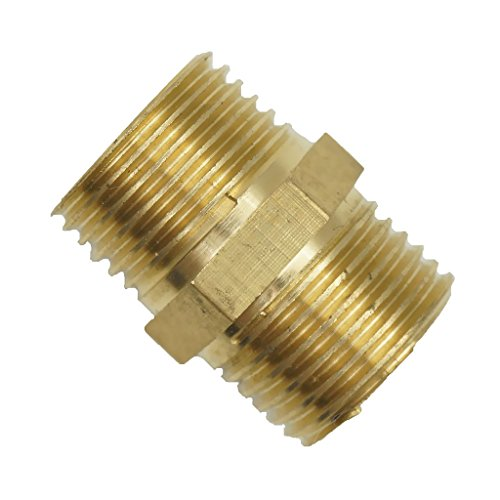 Jili Online 1/2'' 3/4'' 3/8'' 1'' Brass Barbed Male Thread Air Water Hose Pipe Fittings Connector Joint NPT - As described, 3/8 inch (Connectors Male Threaded 1/2')