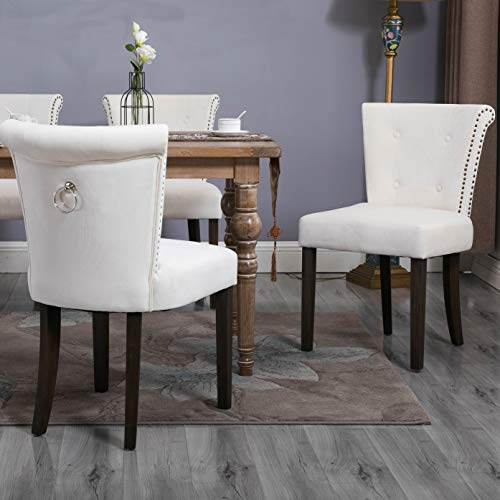 Amazon Com Flieks Dining Chairs Upholstered Tufted