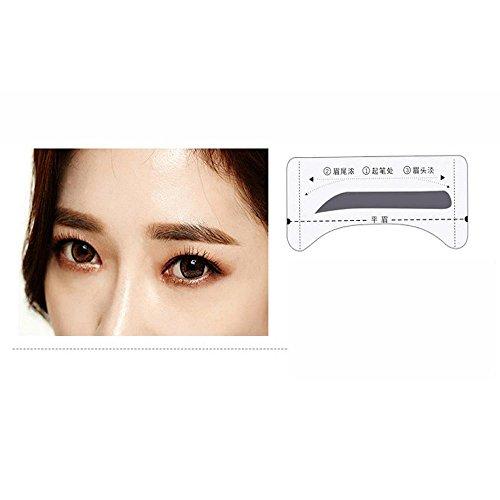 Makeup Brow Shaper Set, FTXJ 5pcs/set Makeup Eyebrow Shaping Stencils Template Tool (C)