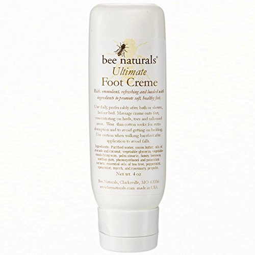 Bee Naturals, Ultimate Foot Cream - Treats Dry, Cracked and Callous Feet - See and Feel Immediate Results