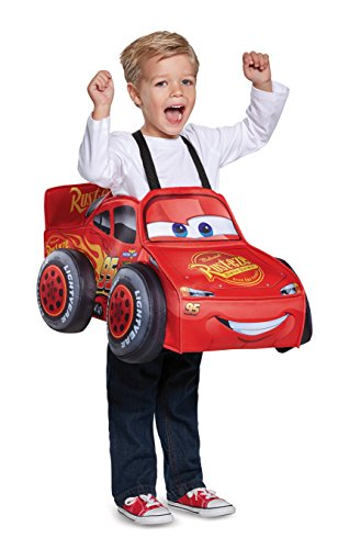 Disney Car Costume Toddlers (Cars 3 Lightning Mcqueen 3D Toddler Costume, One Size (Up To Size 6))