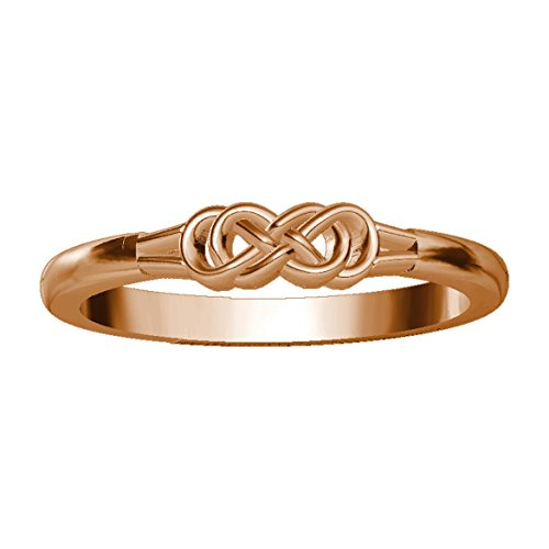 Mini Symbol Double Infinity Ring in 14K Pink Gold size 7 by Sziro Infinity Rings
