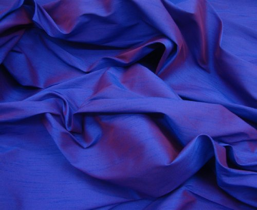 Purple Two Tone Shantung Dupioni Faux Silk Fabric Per Yard 58