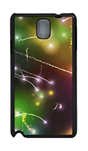 Sparkles Custom Polycarbonate Hard Case For Samsung Galaxy Note 3 / Note III/ N9000 - Black