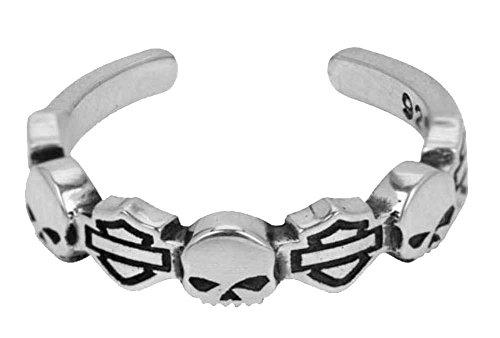 Harley-Davidson Bar & Shield Skull Silver Toe Ring HDT0013