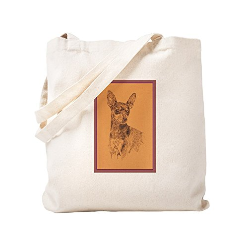 CafePress Miniature Pinscher Natural Canvas Tote Bag, Cloth Shopping Bag