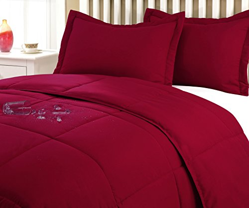 Stayclean Water & Stain Resistant Comforter Mini Sett, King, Red
