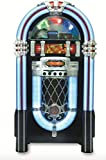 Retro Jukebox Wireless Bluetooth Color-Changing Wood Full-Size Sound System CD USB MP3 AUX Radio Juke Box