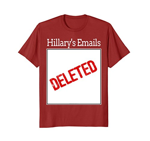 Mens Hillary's Deleted Emails Halloween Costume T-Shirt 3XL (Hillary's Email Costume)