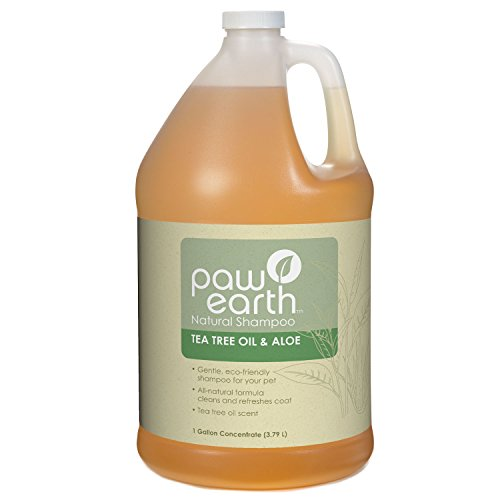 Paw Earth Natural Pet Shampoo for Dogs, Tea Tree Oil and ...
