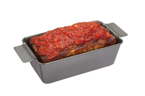 Chicago Metallic Professional Non-Stick 2-Piece Healthy Meatloaf Set, 12.25-Inch-by-5.75-Inch by Chicago Metallic (Image #2)