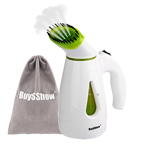BuySShow Multi-functional Portable Garment Steamer,Mini Travel Steamer,Fabric Steamer, Face steamer,Humidifier,Powerful Handheld Steamer with Fast Heat-up,Travel Pouch and Brush Included (Cordless Steamer compare prices)