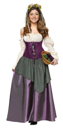 Fun World Women's Tavern Wench Costume, Multi, (Tavern Maiden)