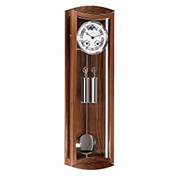 Hermle MORNINGTON Mechanical Regulator Wall Clock 70650030058, French Walnut and Nickel