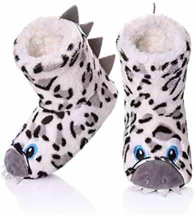 540b9062828 FANZERO Kids Girls Boys Floor Slippers Cute Animal Soft Warm Plush Lining  Non-Slip House