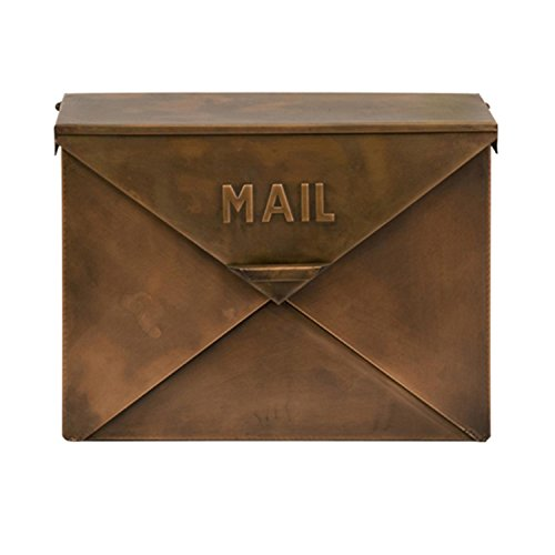 (IMAX 44090 Tauba Mail Box in Copper Finish - Use Multi-Dimensional Utility Box as Document Keeper, Letter Holder, Suggestion Box, Desk Organizer. Accent Piece for Home,)