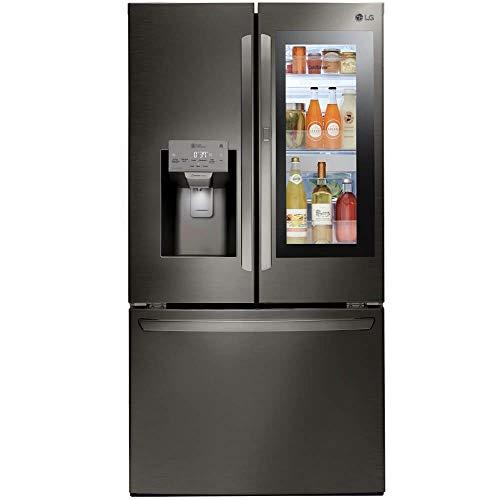 LG LFXS28596D 28 Cu. Ft. Black Stainless InstaView Door-in-Door French Door Refrigerator