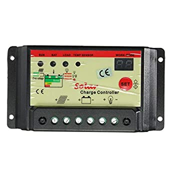 LCD 10A 12V//24V Autoswitch Solar Panel Battery Regulator Charge Controller CE WT