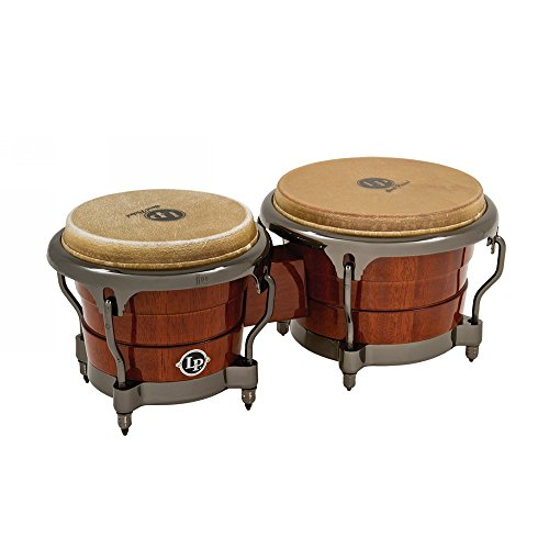 Latin Percussion  LP Durian Wood Bongos,Natural/Chrome by Latin Percussion