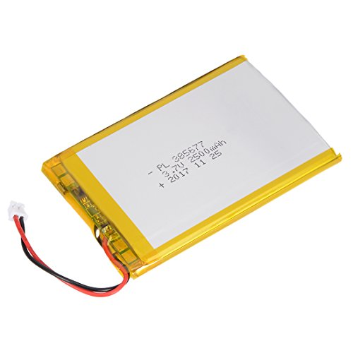 - uxcell® Power Supply DC 3.7V 2500mAh 385677 Li-ion Rechargeable Lithium Polymer Li-Po Battery
