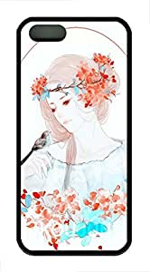 Anime Girl Soft Rubber Case Cover iPhone 5S 5