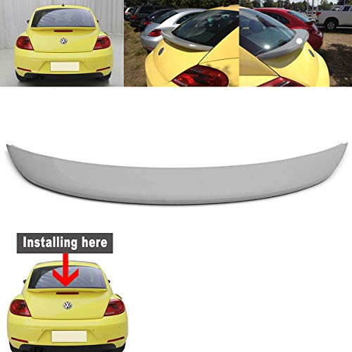 Carvicto - For Volkswagen for VW Beetle 2012 up Primer Unpainted ABS Rear Trunk Wing Back Windshield Spoiler With Screw