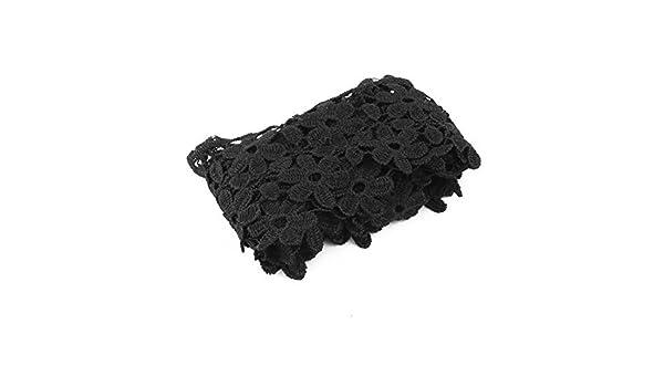 Amazon.com: eDealMax Flor de poliéster Diseño Costura de ropa escote ornamento del ajuste del Applique del cordón del Bordado
