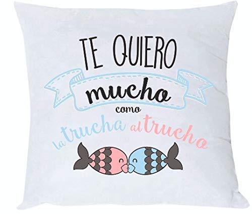 MISORPRESA COJIN y Relleno Frase Te Quiero Mucho como la ...