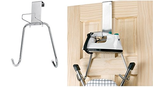 Polder Chrome Over the Door Iron and Board Holder Organizer Laundry Storage New 01-52425