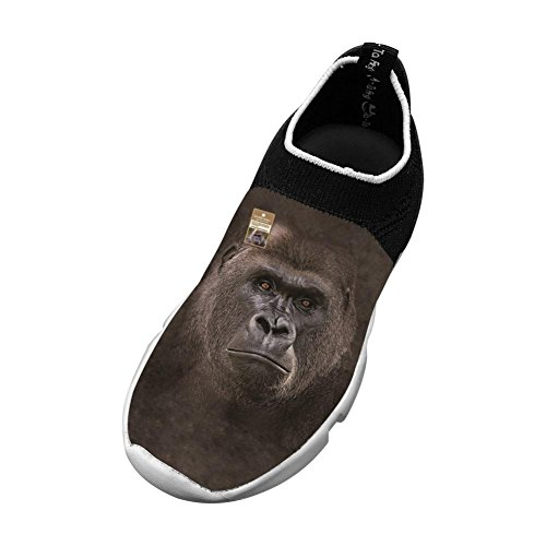- Big Face Lowland Gorilla New Fashion Flywire Weaving 3D Printing Casual Shoes For Unisex Child