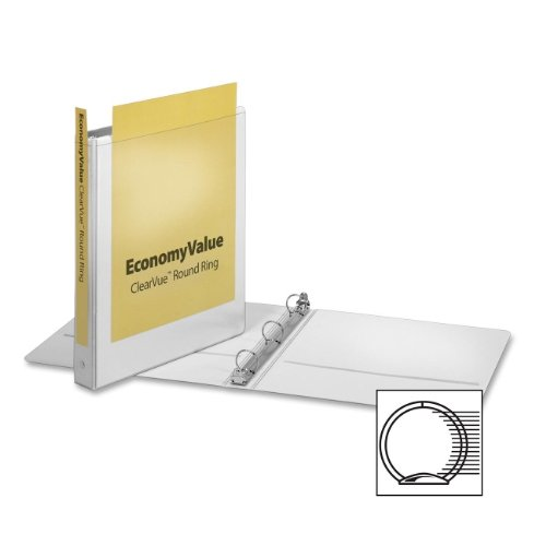 Cardinal EconomyValue ClearVue Round-Ring Binders (CRD90021) -