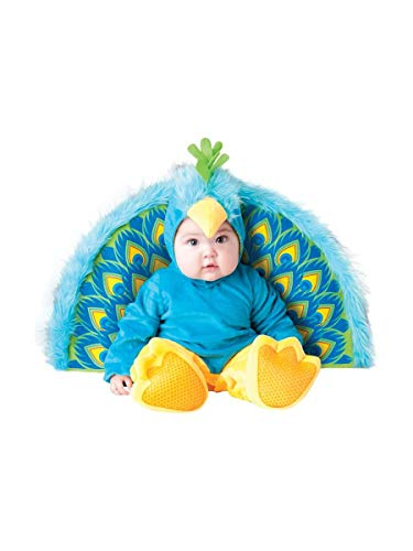 InCharacter Costumes Baby's Precious Peacock Costume, Blue/Yellow, Large -