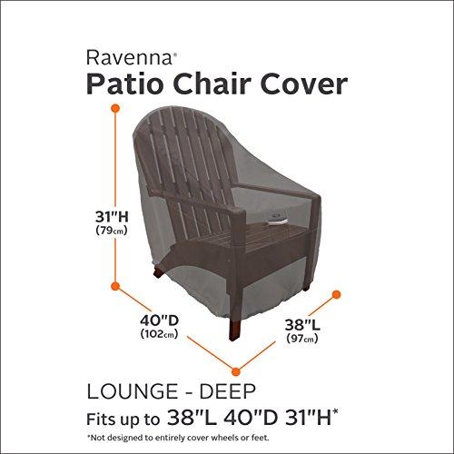 Classic Accessories Ravenna Deep Seated Patio Lounge Chair Cover Premium Ou