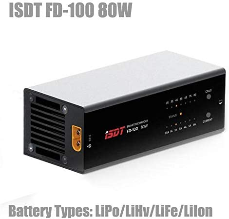 ISDT FD-100 80W 6A Smart Discharger for 2S-8S Lipo Battery