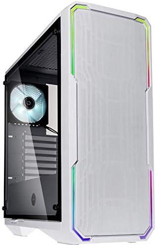 BitFenix Enso Mesh - Caja PC Gaming ATX con iluminación RGB y ventana de cristal templado, color Blanco (BFC-ESM-150-WWWGK-RP): Amazon.es: Electrónica