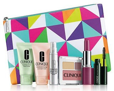 Clinique 7-piece Gift Set 2015 Lord and Taylor, (Clinique Pink Cosmetic)