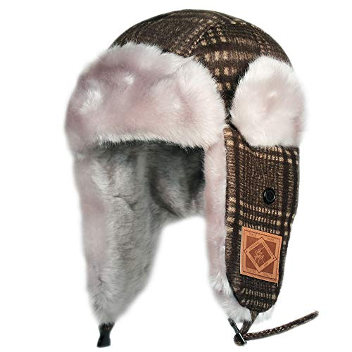 City Hunter W300 Premium Wool Trapper Hats - Multi Colors (W470 Brown)