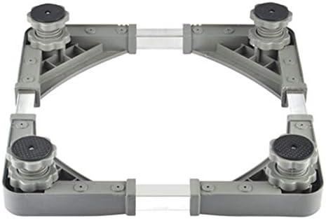 ChenCheng ワッシャーボトムフレームドラムミキサーユニバーサルブラケット、ステンレススチール製調節可能ブラケット高さ向上冷蔵庫シャシーベース、50-60cm * 50-62cm * 7-10cm household products
