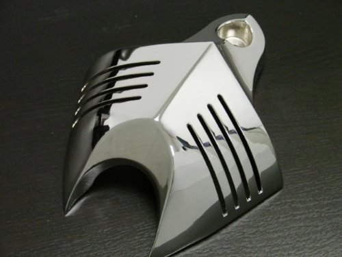 TMS® Chrome Horn Cover for 92-12 Harley Davidson Softail Dyna Glide Big Twin Electra