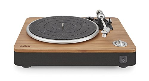 House of Marley, Stir It Up Turntable with Bonus Bob Marley Legend Album- 45/33 RPM, USB Jack in Back For Analog to PC Recording, Replaceable Cartridge, Bamboo Plinth, EM-JT000RC-SB Signature Black
