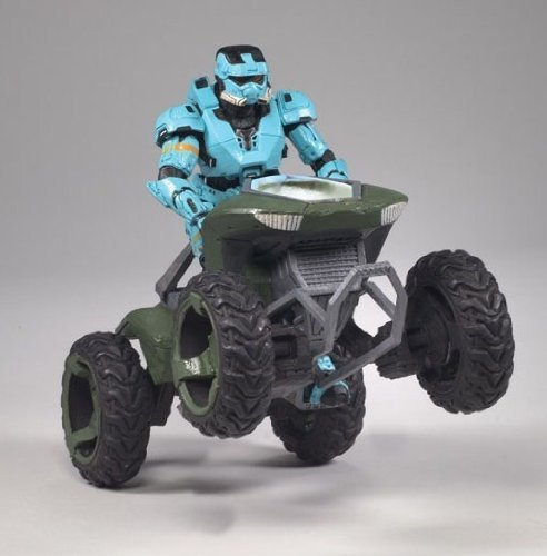 McFarlane Toys Halo Deluxe Box Set - Mongoose Vehicle with Spartan Soldier EOD Cyan - Halo Deluxe Box Set