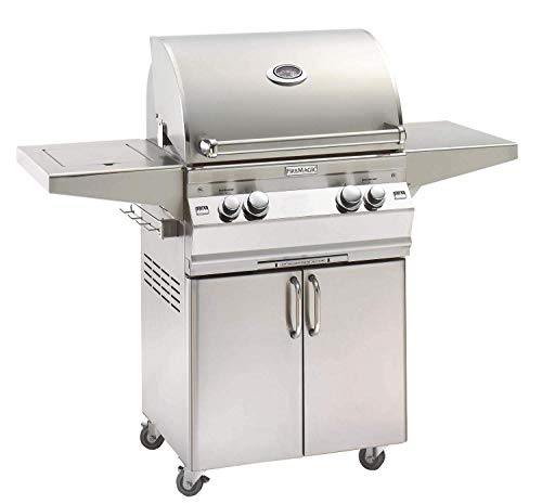Fire Magic Aurora A430s 24-inch Propane Gas Grill with One Infrared Burner, Analog Thermometer, Rotisserie and Single Side Burner - A430s-6lap-62