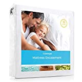 Linenspa Zippered Encasement Waterproof, Dust Mite Proof, Bed Bug Proof, Hypoallergenic Breathable Mattress Protector - Queen Size